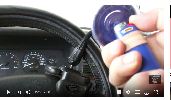 How to stick suction cup mounts that won't stick | TomTom Forums