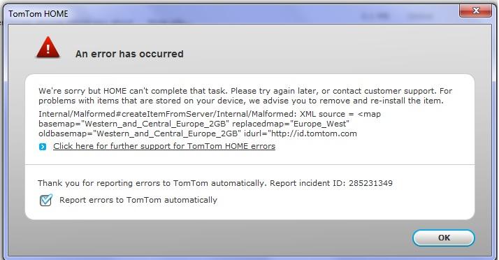 XXL Update Problem | TomTom Forums